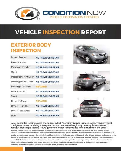 Inspection Report Example